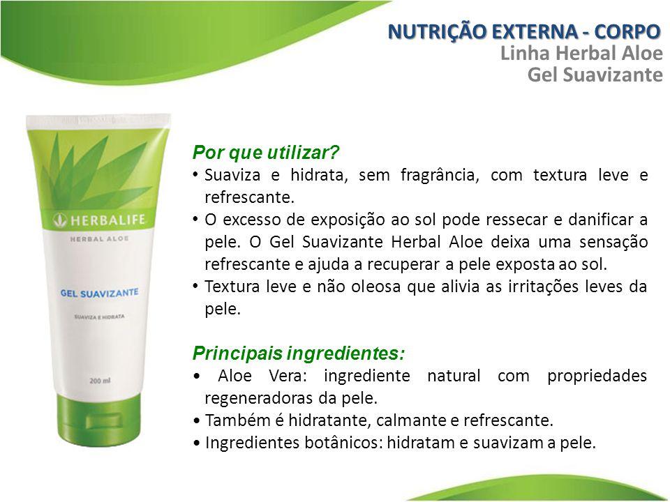 NUTRIÇÃO EXTERNA - CORPO Linha Herbal Aloe Gel Suavizante