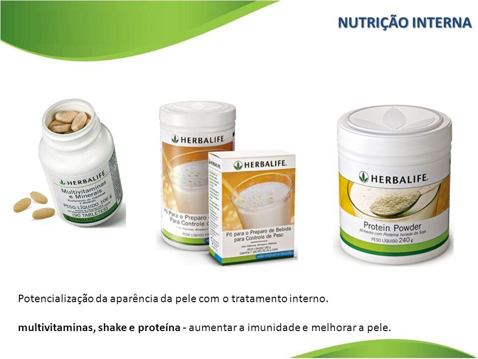 NUTRIÇÃO INTERNA Potencialização da aparência da pele com o tratamento interno.