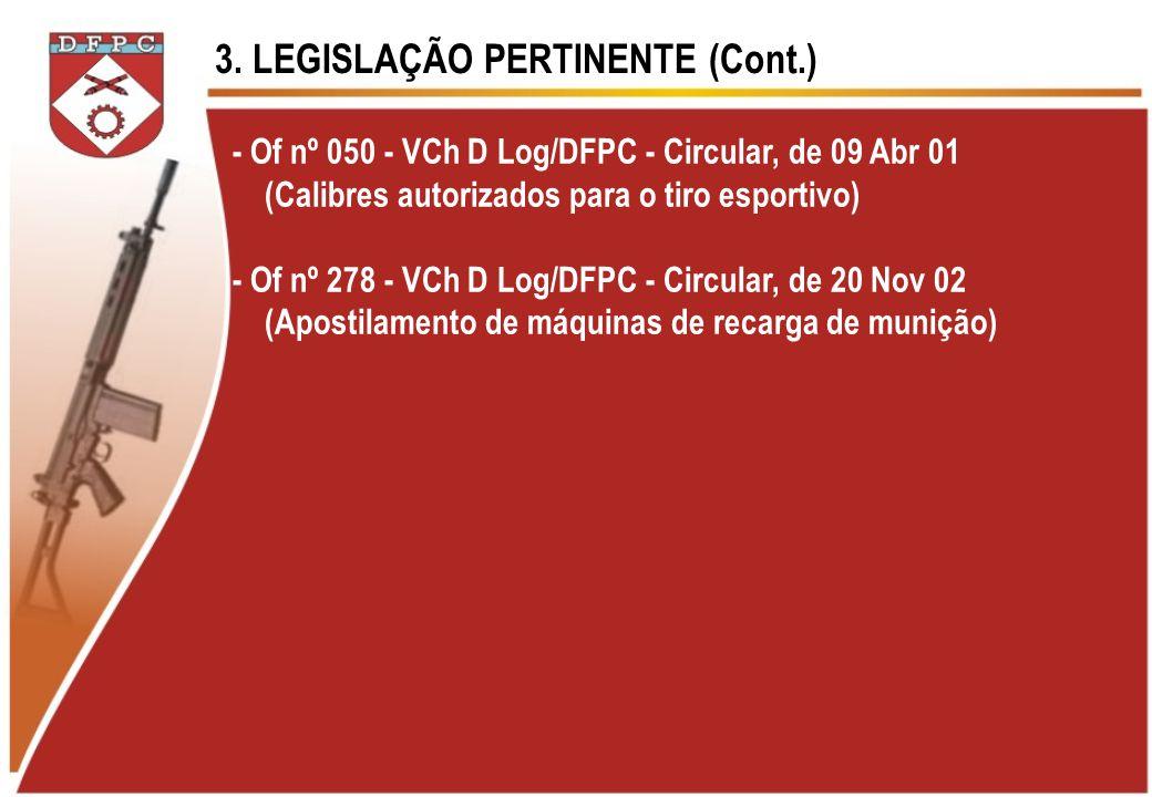 3. LEGISLAÇÃO PERTINENTE (Cont.)