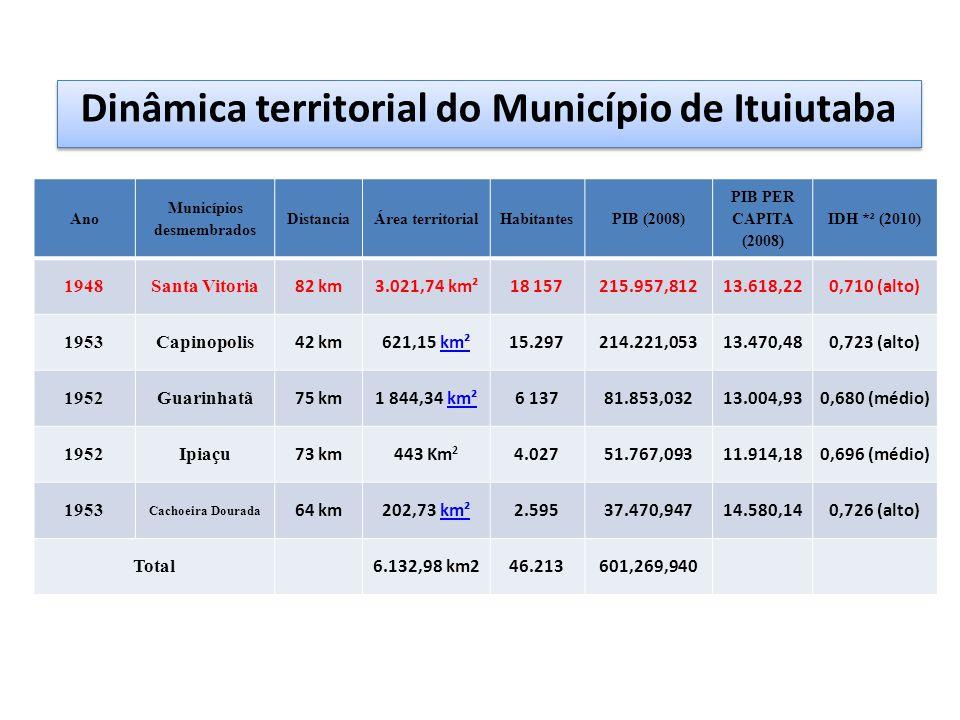 Dinâmica territorial do Município de Ituiutaba