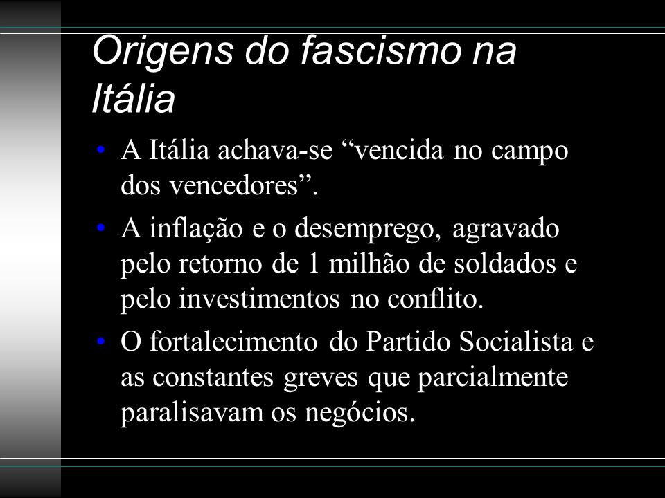 Origens do fascismo na Itália