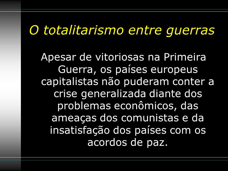 O totalitarismo entre guerras