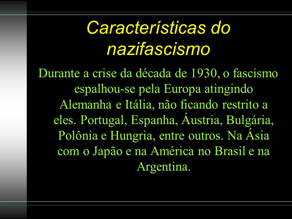 Características do nazifascismo