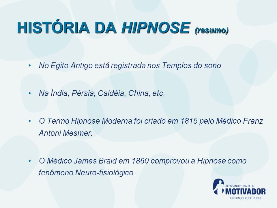 HISTÓRIA DA HIPNOSE (resumo)