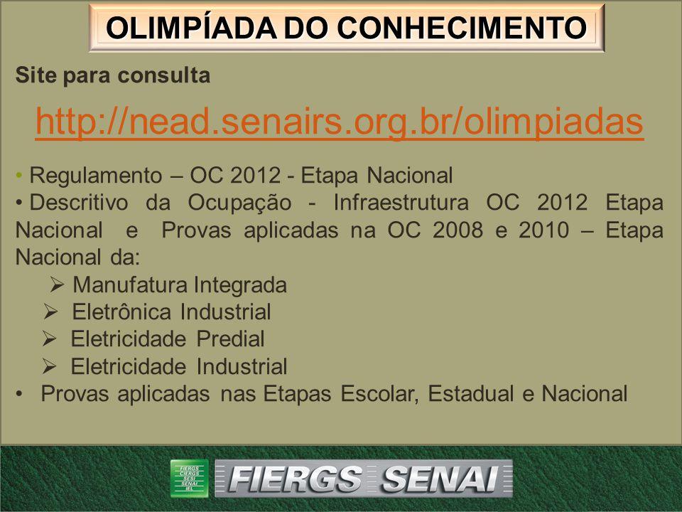 http://nead.senairs.org.br/olimpiadas Site para consulta