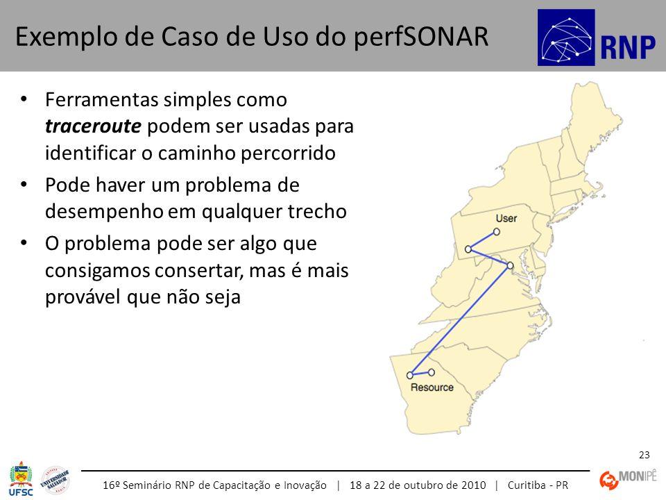 Exemplo de Caso de Uso do perfSONAR