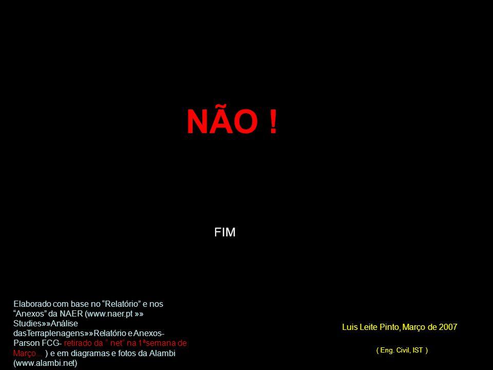 NÃO ! FIM Luis Leite Pinto, Março de 2007 ( Eng. Civil, IST )