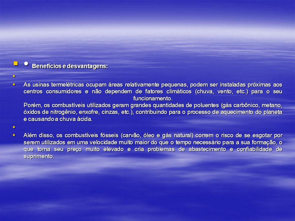 • Benefícios e desvantagens: