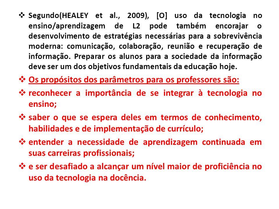 Os propósitos dos parâmetros para os professores são: