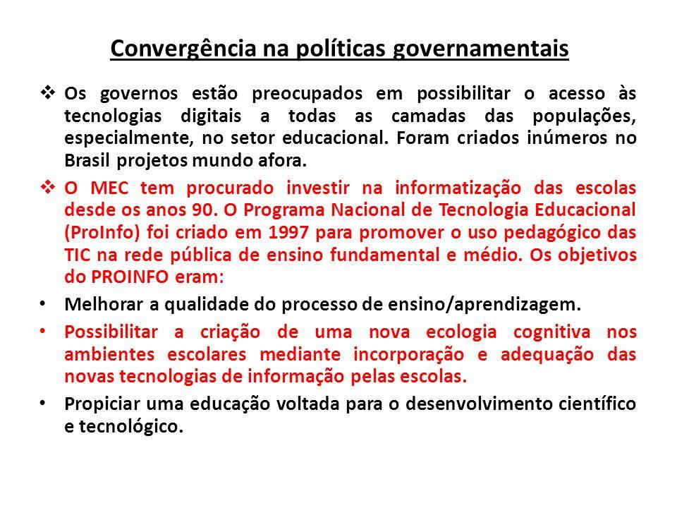 Convergência na políticas governamentais