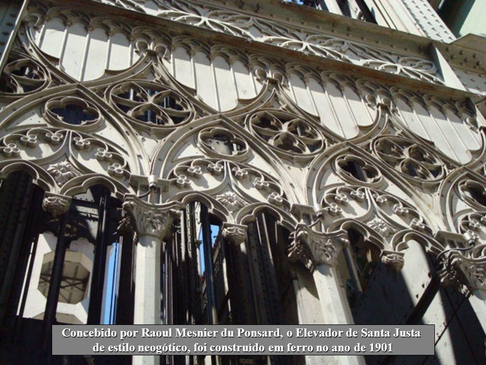 Concebido por Raoul Mesnier du Ponsard, o Elevador de Santa Justa