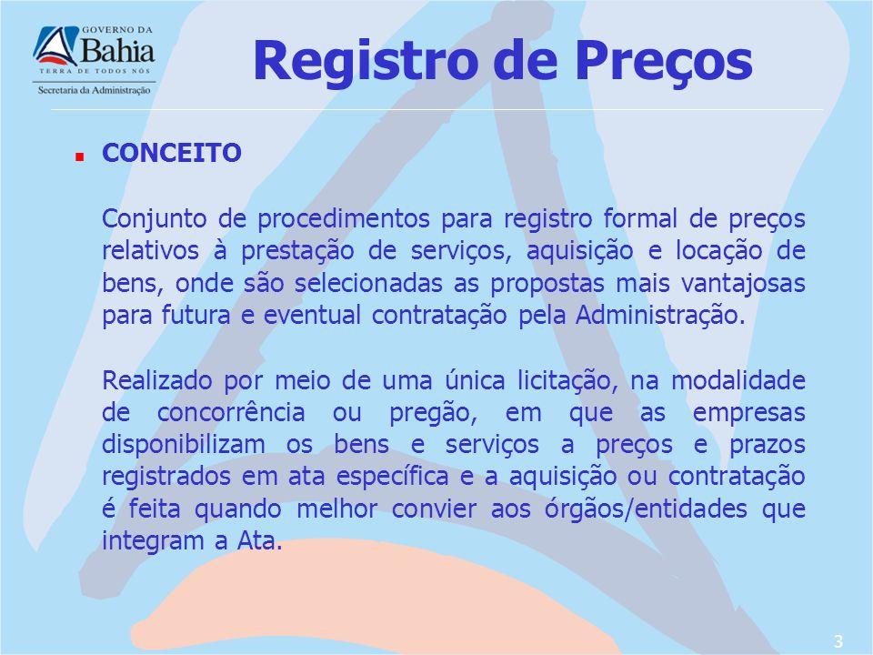 Registro de Preços CONCEITO