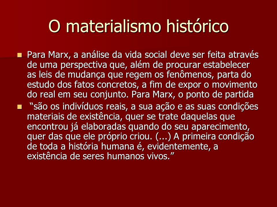 O materialismo histórico