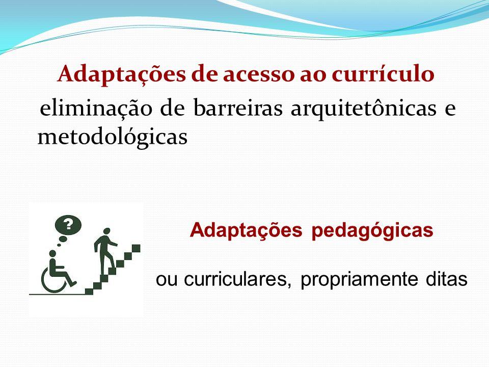 Adaptações de acesso ao currículo