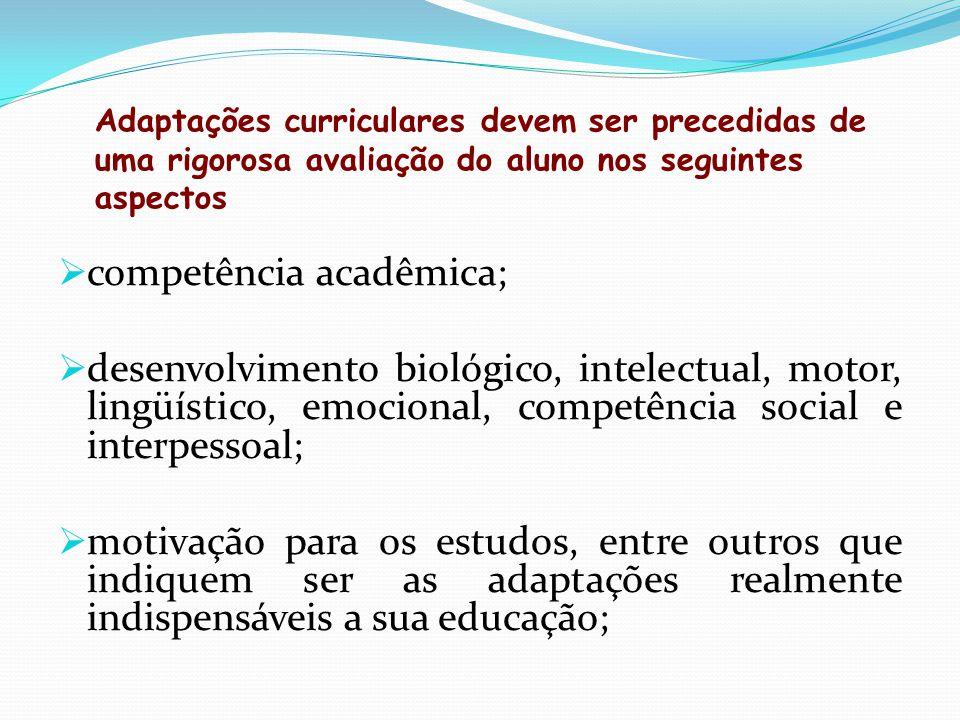 competência acadêmica;
