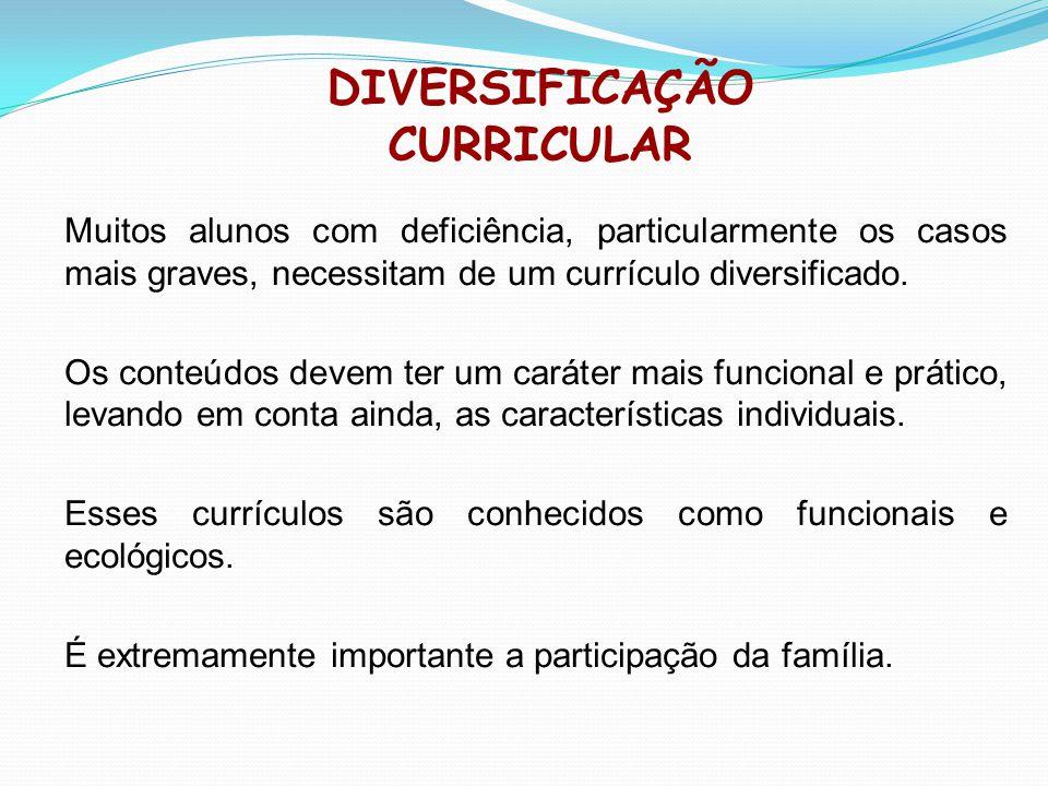 DIVERSIFICAÇÃO CURRICULAR