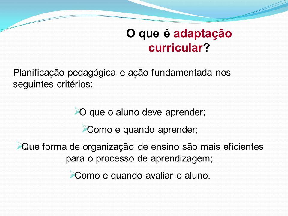 O que é adaptação curricular