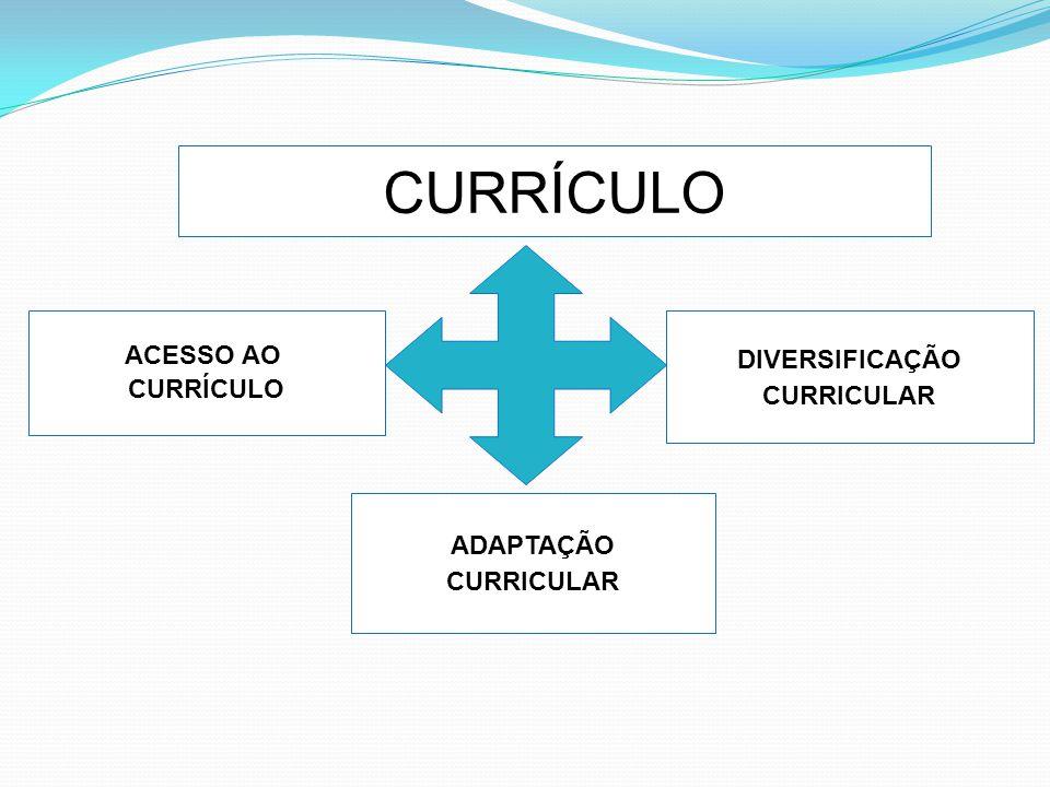 CURRÍCULO ACESSO AO DIVERSIFICAÇÃO CURRÍCULO CURRICULAR ADAPTAÇÃO