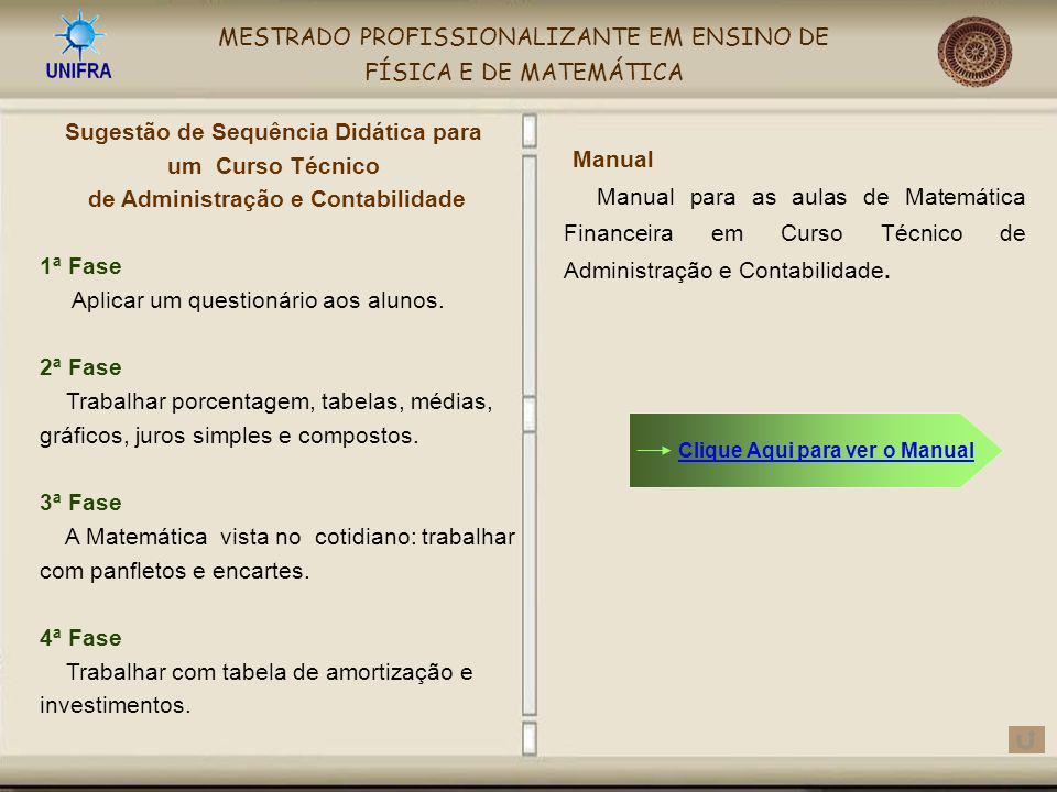 Sugestão de Sequência Didática para de Administração e Contabilidade
