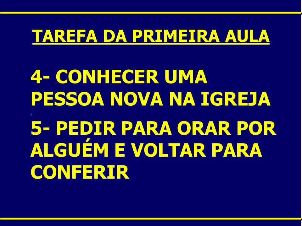 TAREFA DA PRIMEIRA AULA