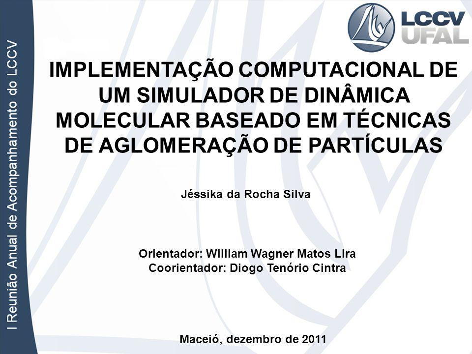 IMPLEMENTAÇÃO COMPUTACIONAL DE UM SIMULADOR DE DINÂMICA MOLECULAR BASEADO EM TÉCNICAS DE AGLOMERAÇÃO DE PARTÍCULAS