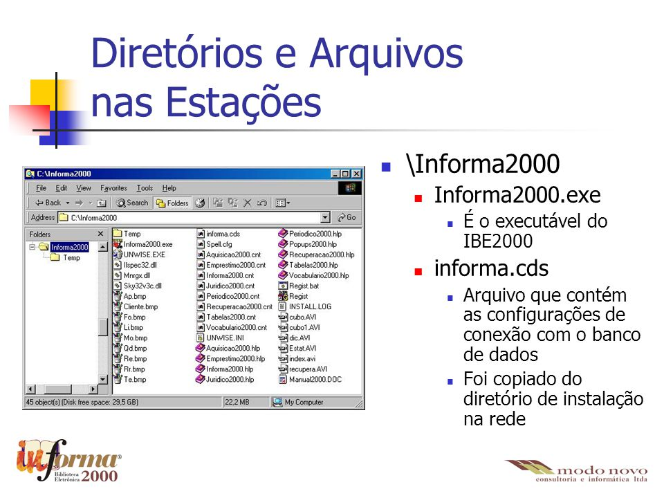 Diretórios e Arquivos nas Estações