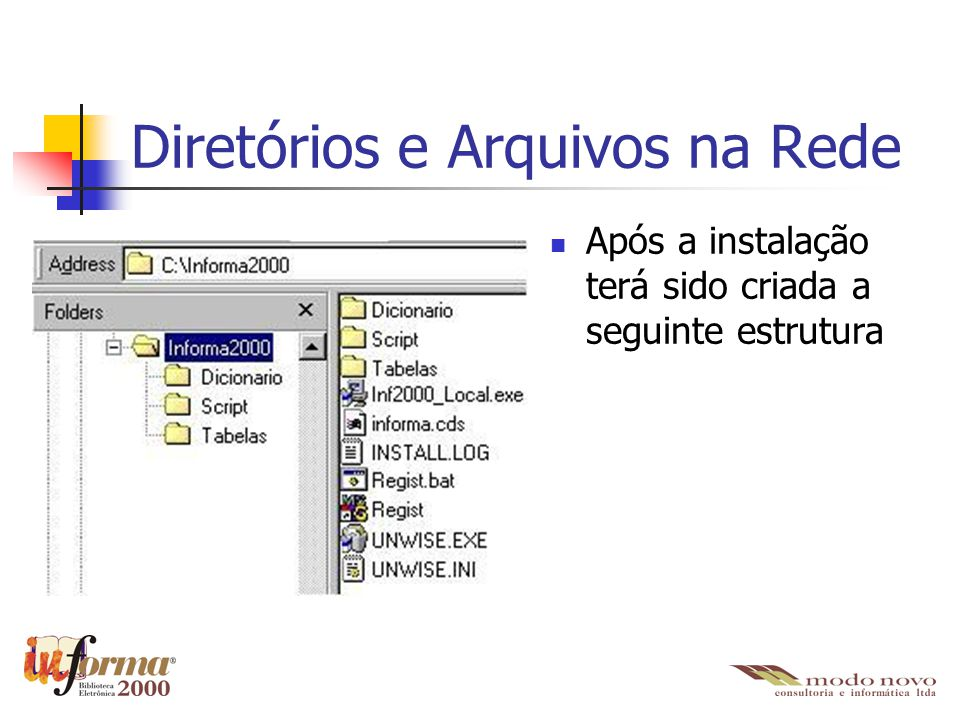 Diretórios e Arquivos na Rede