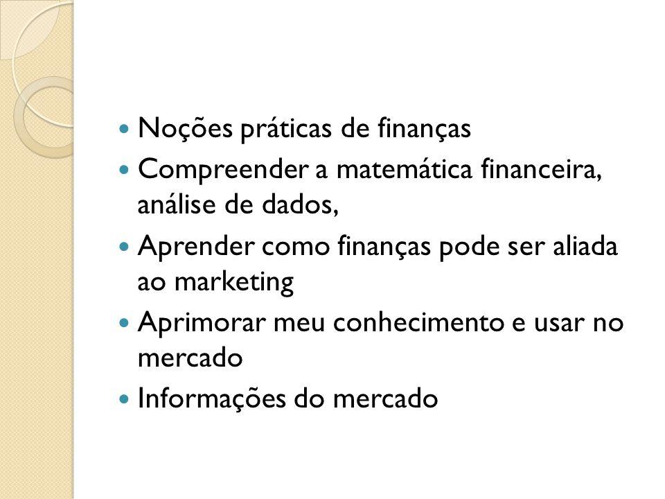 Noções práticas de finanças