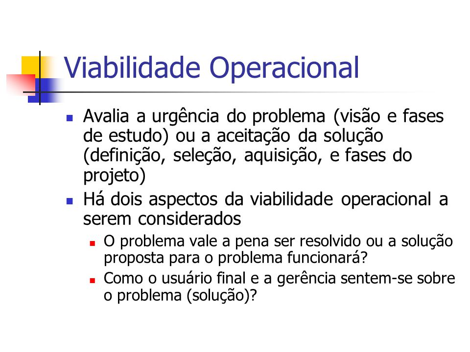 Viabilidade Operacional