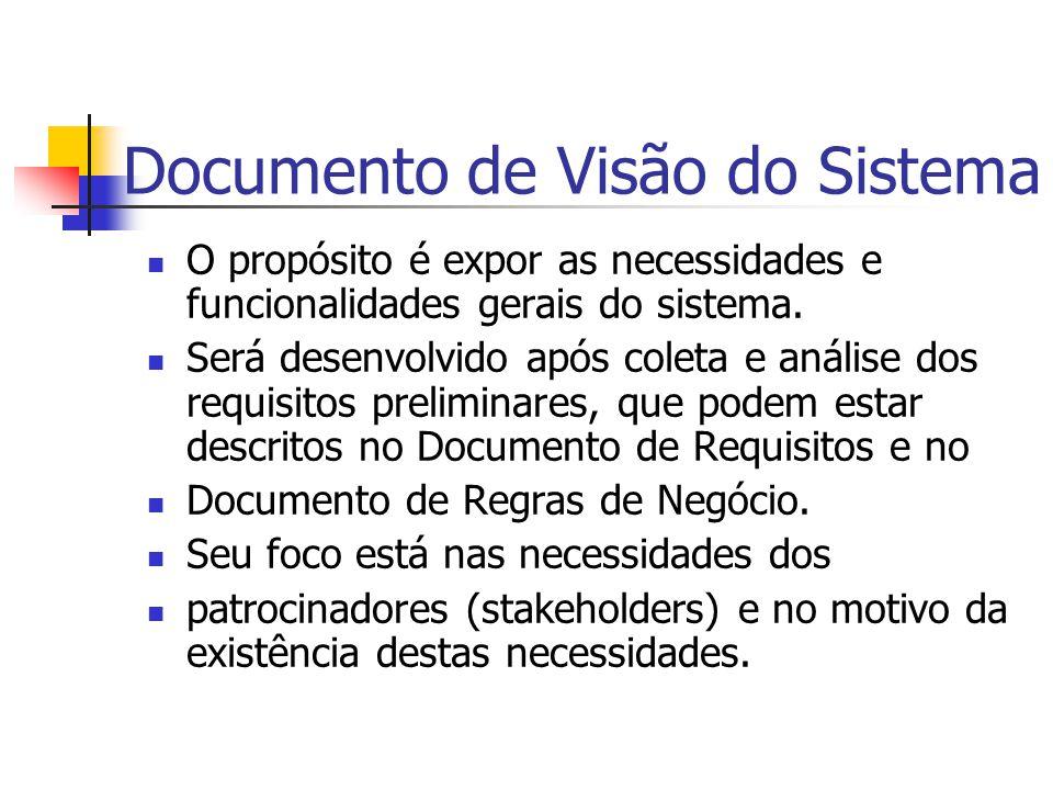 Documento de Visão do Sistema