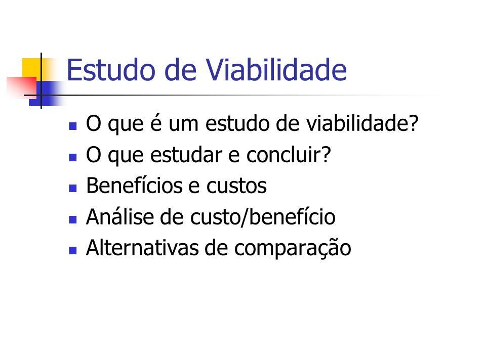 Estudo de Viabilidade O que é um estudo de viabilidade