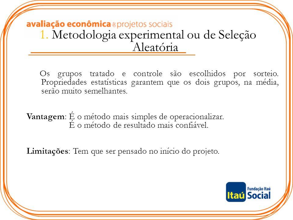 1. Metodologia experimental ou de Seleção Aleatória