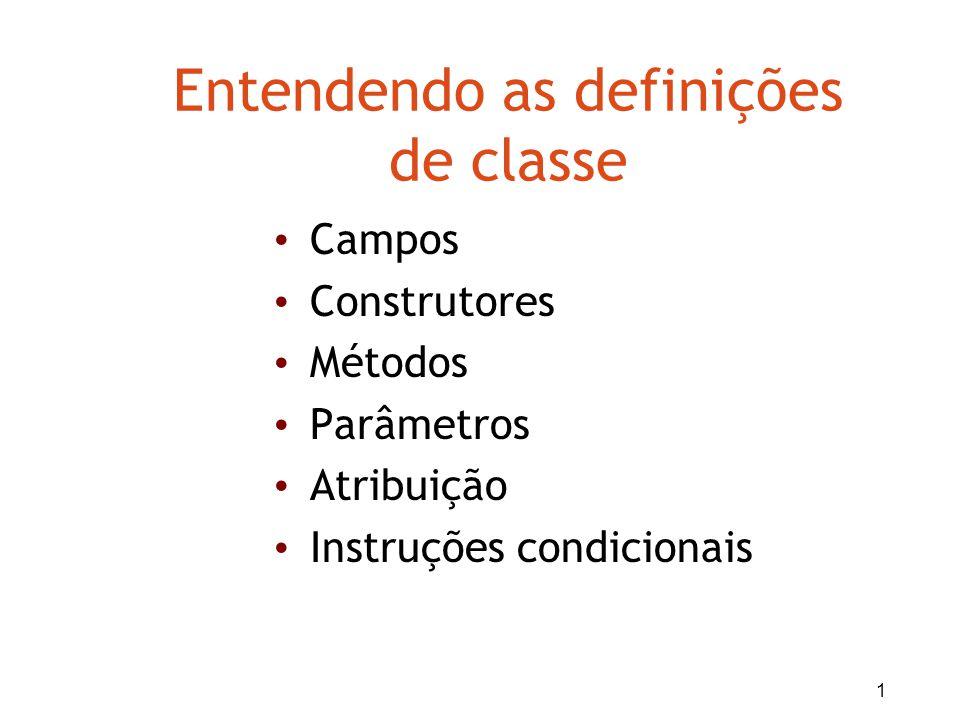 Entendendo as definições de classe