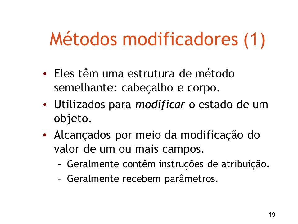 Métodos modificadores (1)