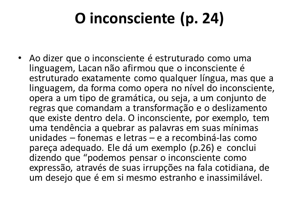 O inconsciente (p. 24)
