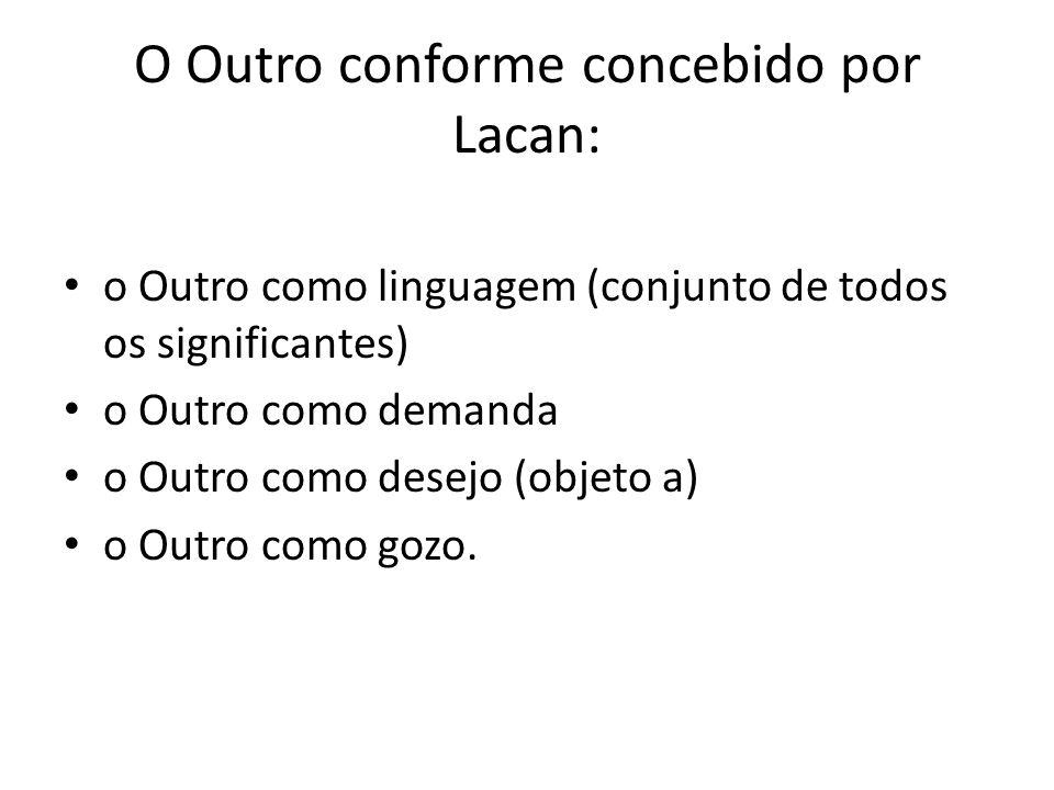 O Outro conforme concebido por Lacan:
