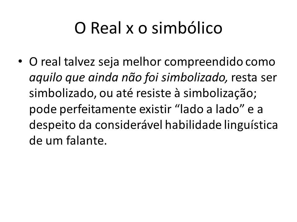 O Real x o simbólico