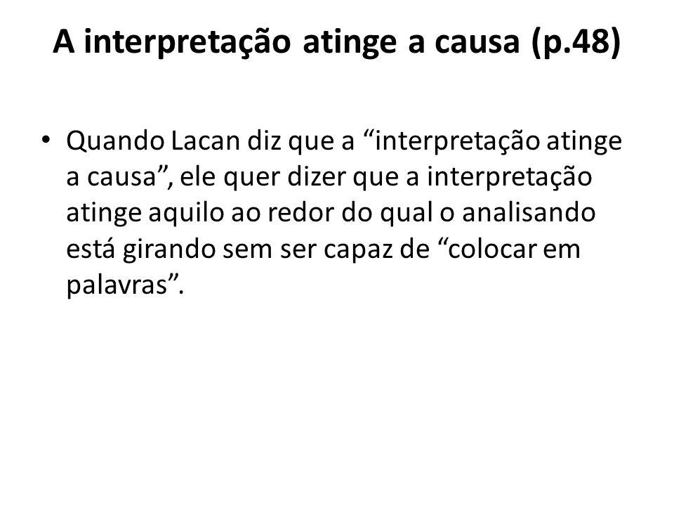A interpretação atinge a causa (p.48)