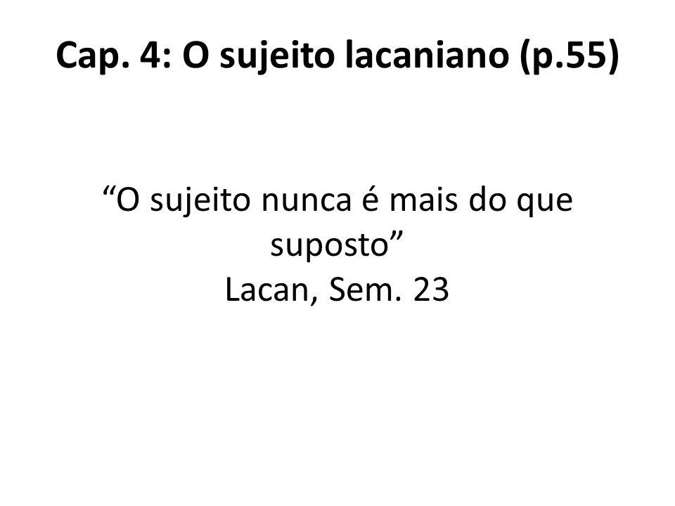 Cap. 4: O sujeito lacaniano (p.55)