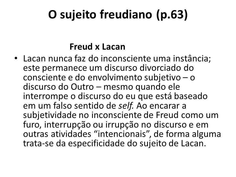 O sujeito freudiano (p.63)