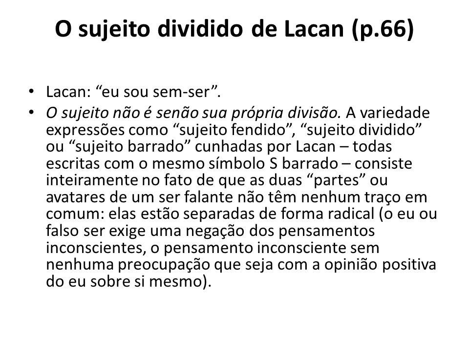O sujeito dividido de Lacan (p.66)