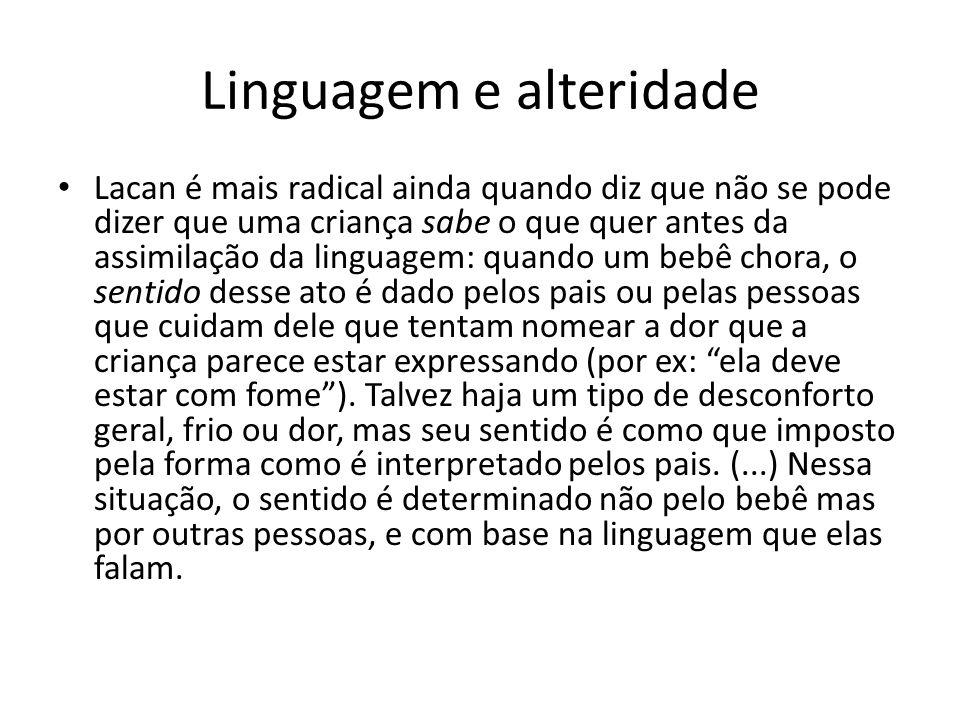 Linguagem e alteridade