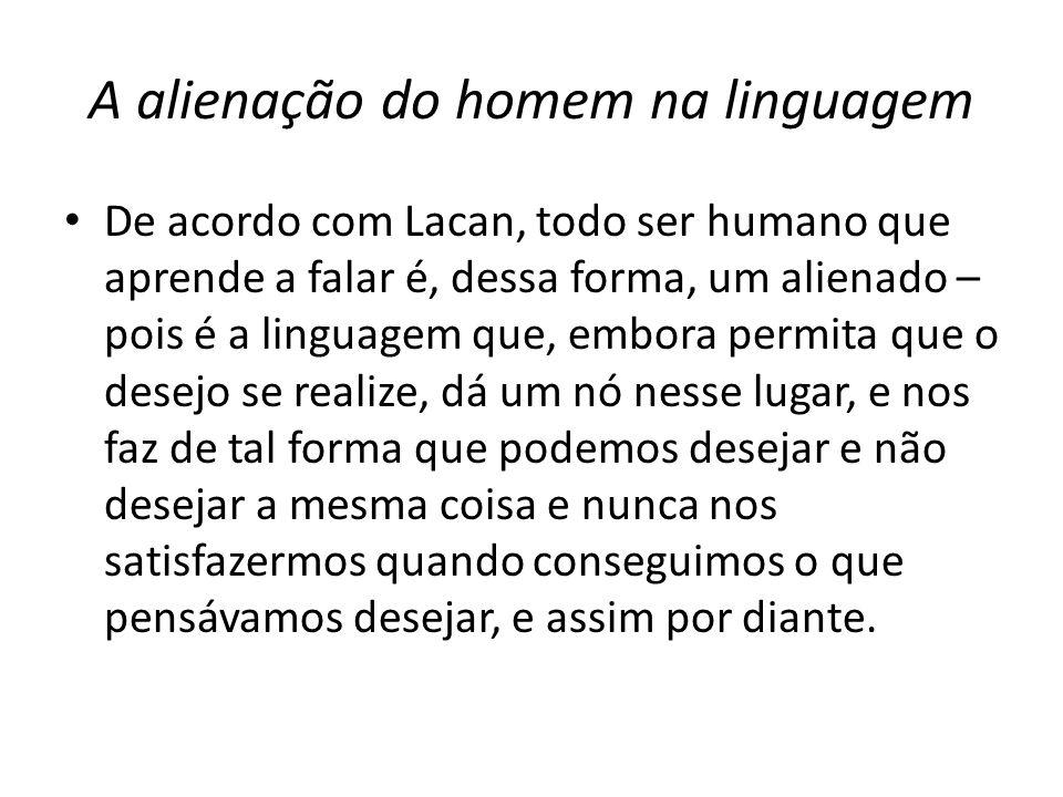 A alienação do homem na linguagem