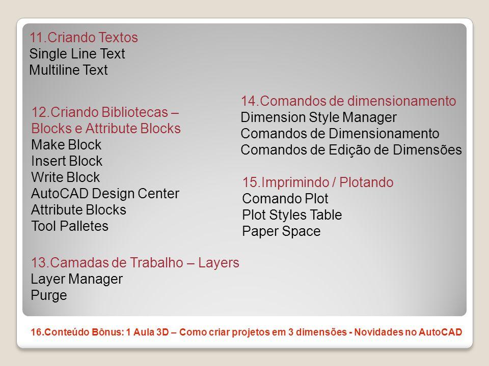 14.Comandos de dimensionamento Dimension Style Manager