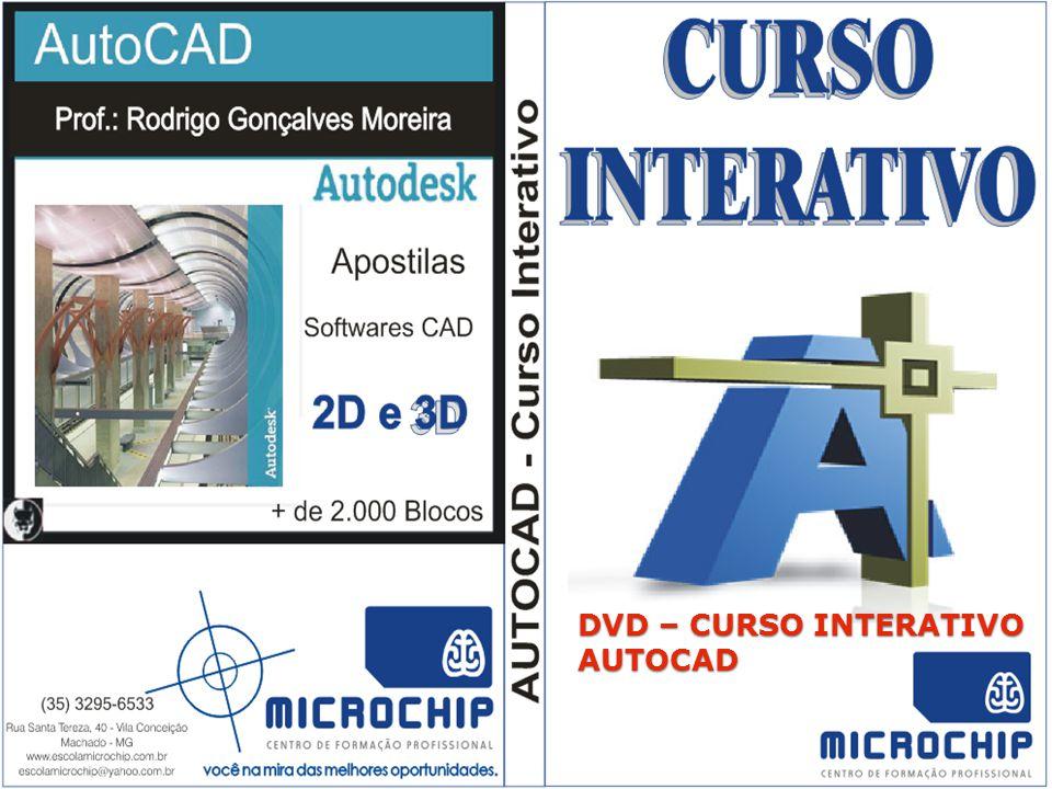DVD – CURSO INTERATIVO AUTOCAD