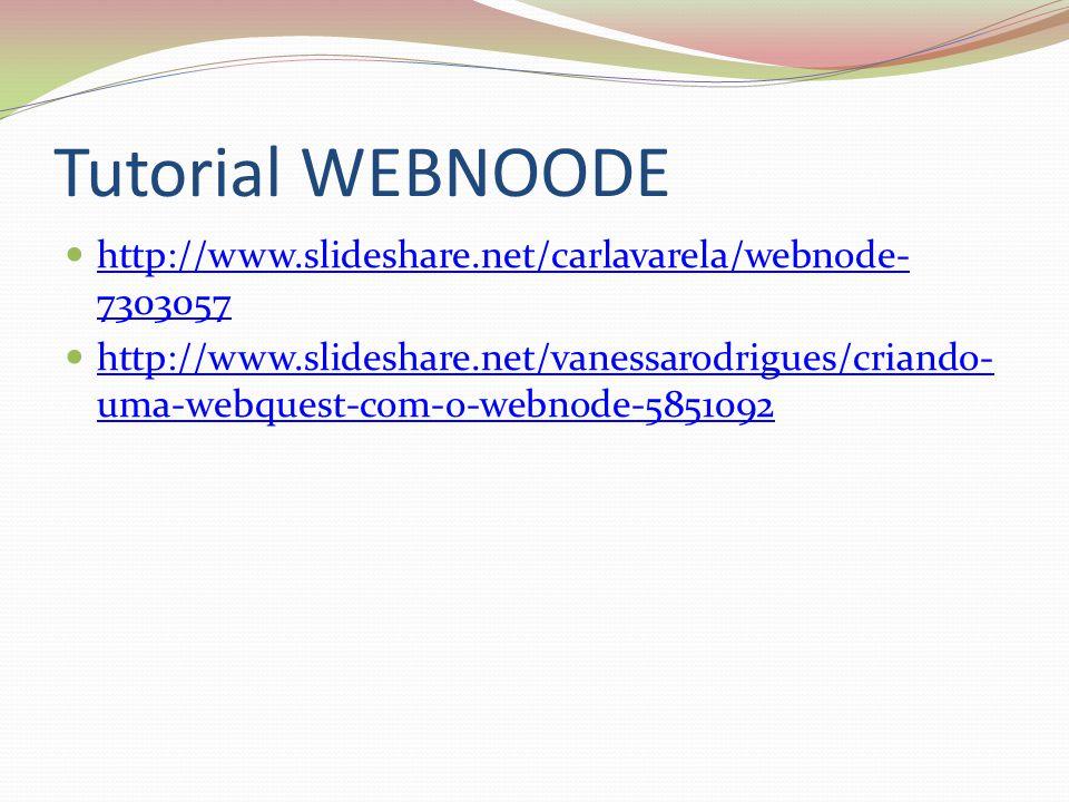 Tutorial WEBNOODE http://www.slideshare.net/carlavarela/webnode-7303057.