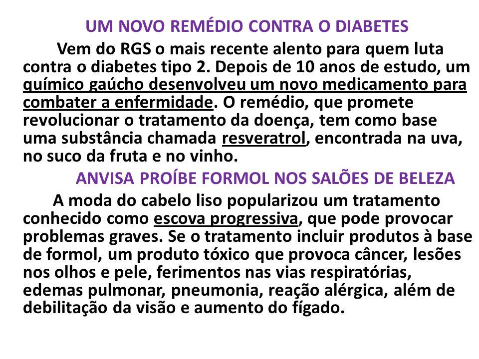 UM NOVO REMÉDIO CONTRA O DIABETES