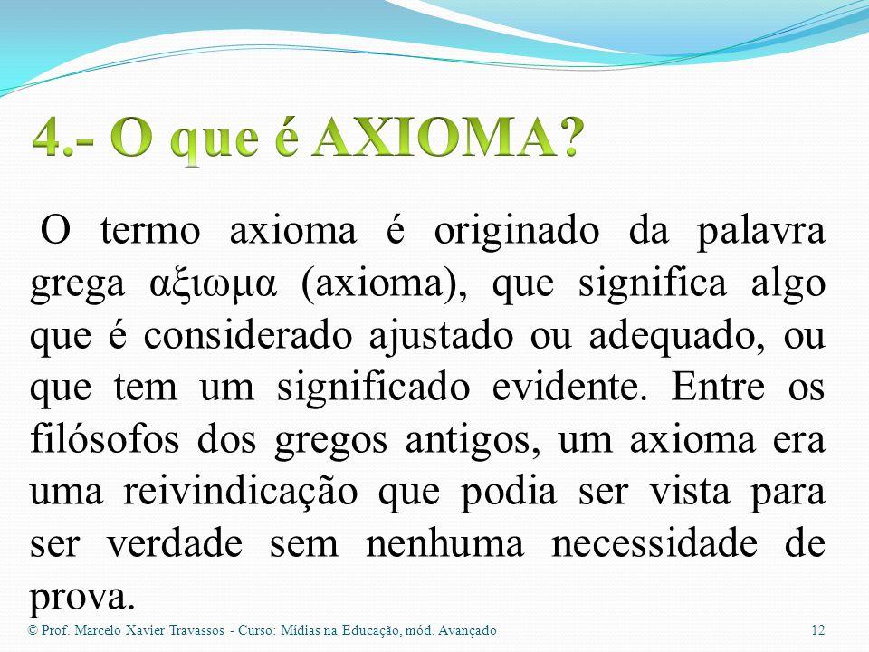 4.- O que é AXIOMA