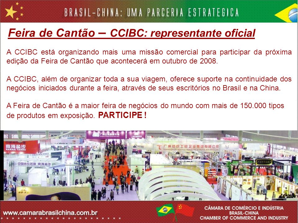 Feira de Cantão – CCIBC: representante oficial