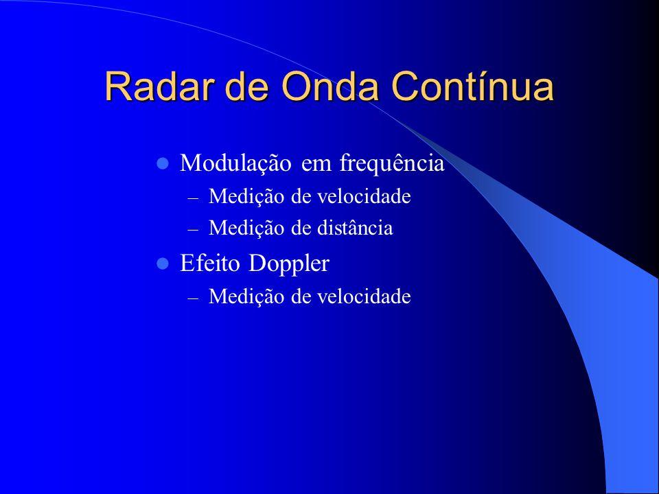 Radar de Onda Contínua Modulação em frequência Efeito Doppler